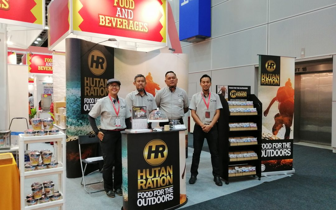 Hutan Ration at the Malaysia Halal Expo 2019 for Japan Olympics